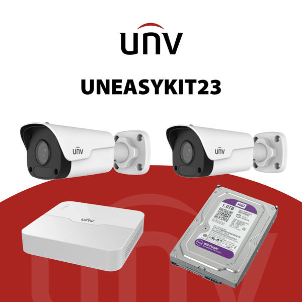 UNEASYKIT23 kit videosorveglianza TVCC IP di UNV