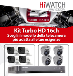 KIT TURBO HD 16CH HIWATCH DODIC PROMO MARZO 2018