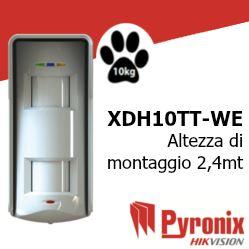 XDH10TT-WE Rilevatore di allarme a tripla tecnologia da esterno via radio bidirezionale