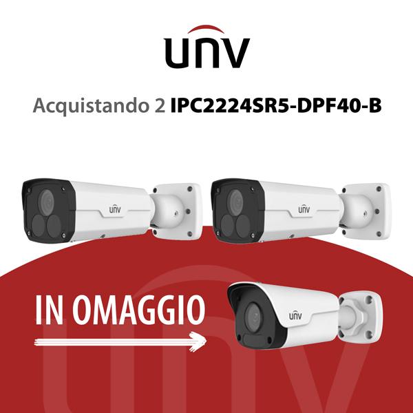 IPC2224SR5-DPF40-B è una Bullet IP 4 Megapixel - videosorveglianza UNV