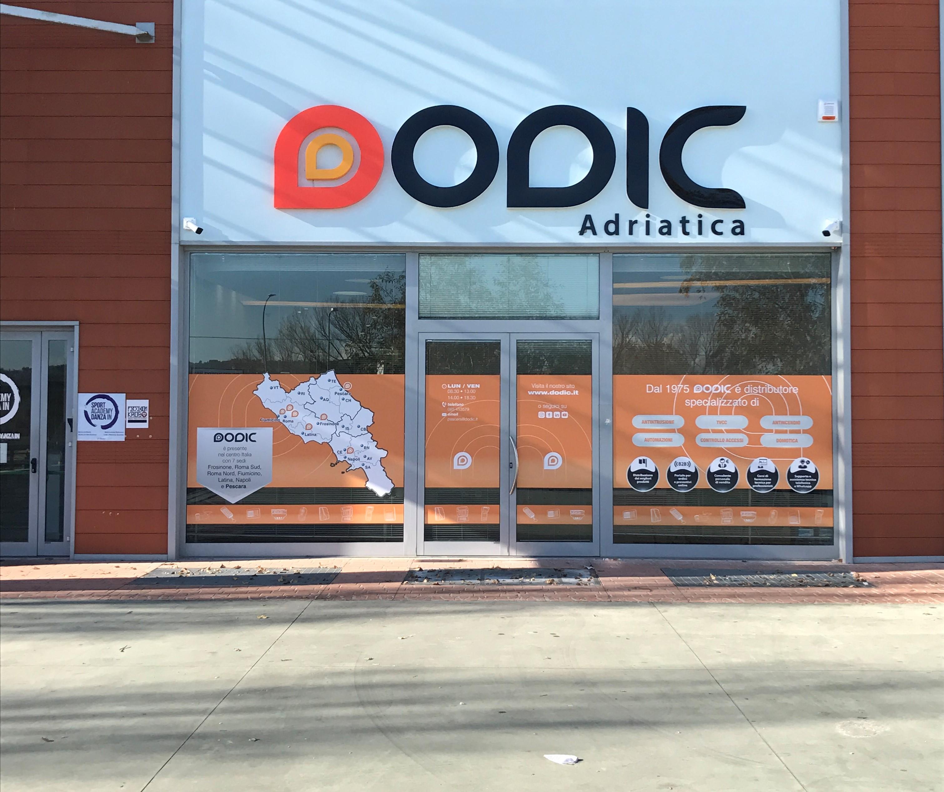 Dodic Adriatica, distributore di antintrusione, videosorveglianza, automazioni, controllo accessi, domotica e antincendio per Abruzzo e Molise