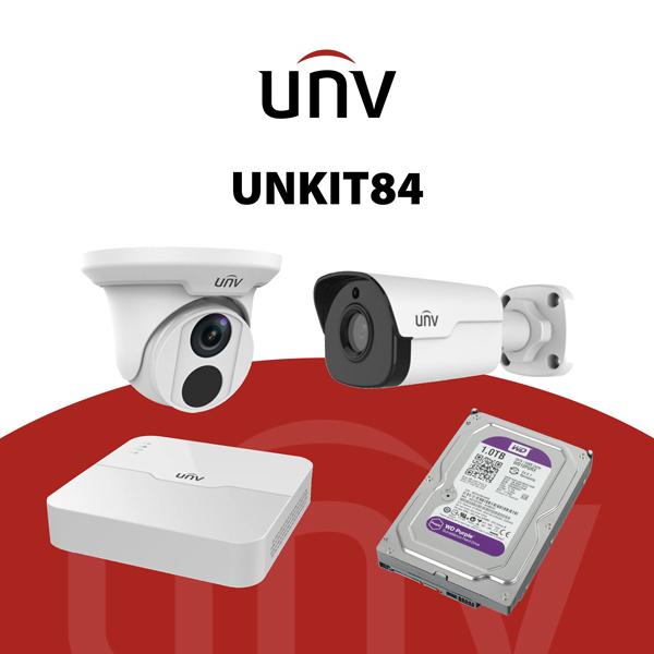 UNKIT84 Kit IP 4 Megapixel - kit tvcc IP - videosorveglianza UNV