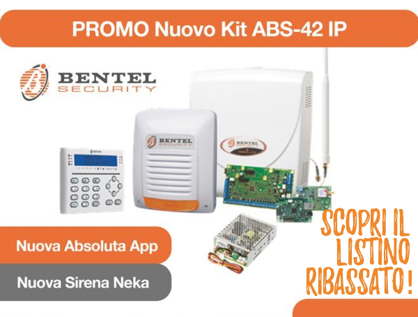 promo nuovo kit abs 42 ip - antifurto bentel absoluta