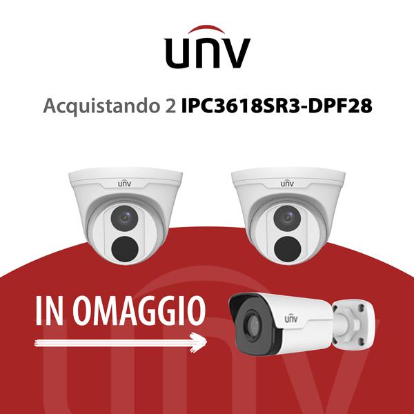 IPC3618SR3-DPF28 è una Dome camera IP 8 Megapixel 4K - VIDEOSORVEGLIANZA UNV
