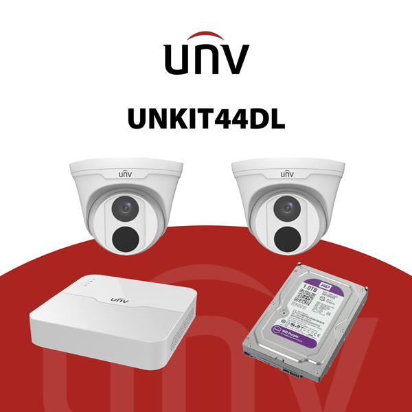 UNKIT44DL Kit IP 4 Megapixel - KIT TVCC - videosorveglianza UNV
