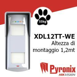 XDL12TT-WE XDL 12TT-WE Rilevatore di allarme a tripla tecnologia da esterno via radio bidirezionale
