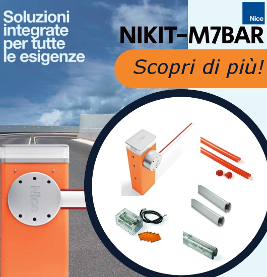 NICE alzabarriere: NIKIT-M7BAR
