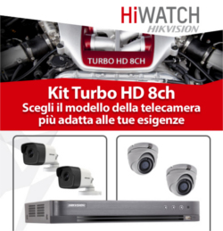 KIT TURBO HD 8CH HIWATCH DODIC PROMO MARZO 2018