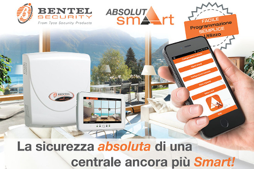 centrale ABSOLUTA SMART DI BENTEL SECURITY - centrale antintrusione programmabile da app smartphone!