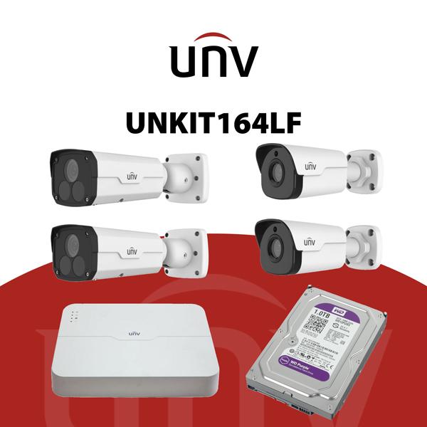 UNKIT164LF Kit IP 4 Megapixel - kit TVCC IP - videosorveglianza UNV